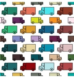 Retro toy trucks seamless pattern vector
