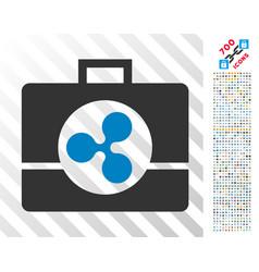 Ripple business case flat icon with bonus vector