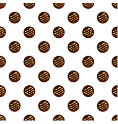 round chocolate biscuit pattern seamless vector image