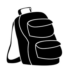 School backpack symbol vector