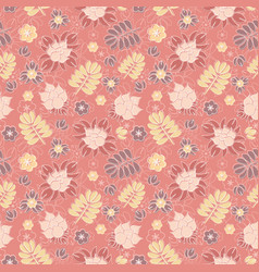 seamless pattern with romantic floral background vector image