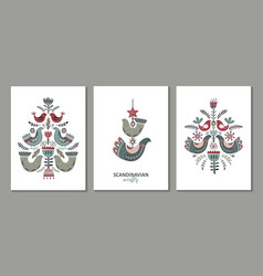 set greeting cards posters vector image