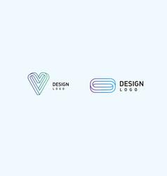 Set modern logos vector