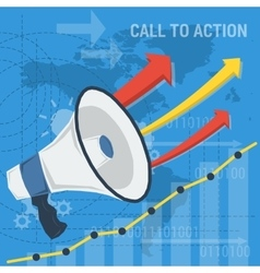 Square background call to action vector