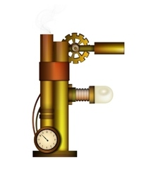 Steampunk letter isolated on white vector