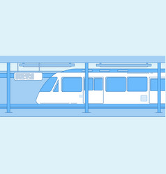 subway train underground empty station with metro vector image