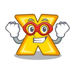 Super hero cartoon multiply of a delete sign vector