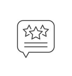 testimonial message line outline icon vector image