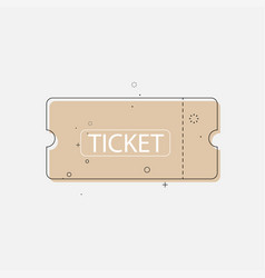 Ticket icon in trendy flat style vector