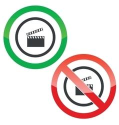 Video capture permission signs vector