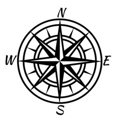 Vintage compass retro nautical marine mapping vector