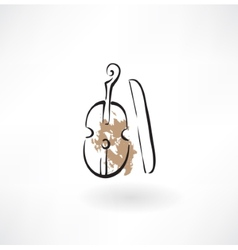 violin grunge icon vector image