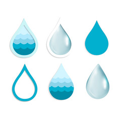 water drop set vector image