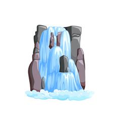 Waterfall cascade in mountains cascade water vector