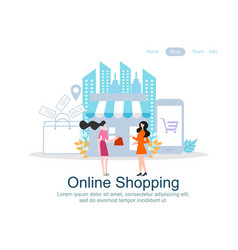 web page design templates for online shopping vector image