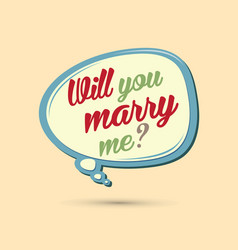 Will you marry me text in balloons vector