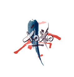 xoxo phrase vector image