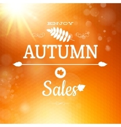 Autumn sale background EPS 10 vector image vector image