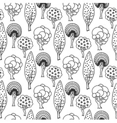 hand drawn seamless pattern with abstract doodle vector image