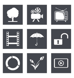 Icons for Web Design set 44 vector image vector image