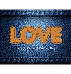 Love Valentine Jeans Background vector image vector image