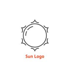 simple thin line sun logo vector image
