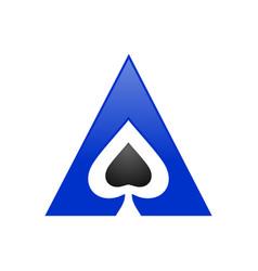 spade ace triangle symbol logo design vector image