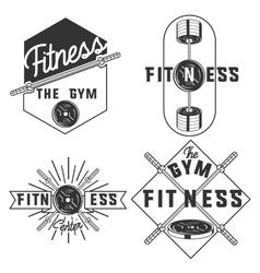 vintage fitness gym emblems vector image vector image