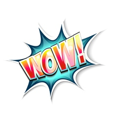 wow explosion vector image vector image