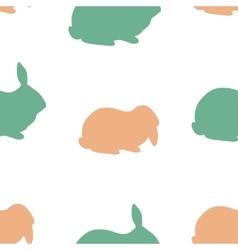 Farm rabbit silhouettes vector image