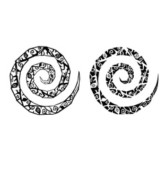 Gothic spirals tattoo vector image vector image