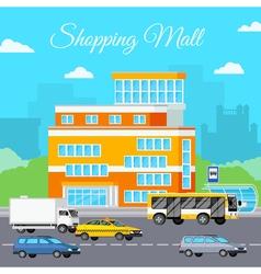 Shopping Mall Urban Composition vector image vector image