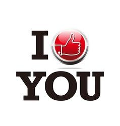 thumb up i like you design symbol vector image