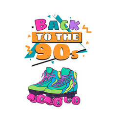 back to the 90s poster banner template with vector image