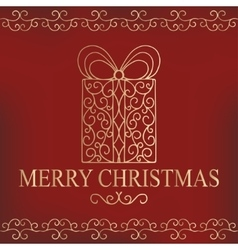 Calligraphic collection of christmas symbols vector image