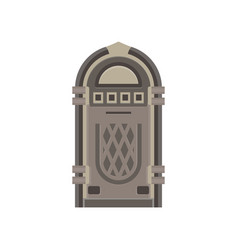 flat retro jukebox isolated on white music device vector image