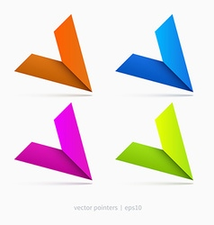 Pointers graphic vector image