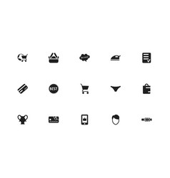 set of 15 editable trade icons includes symbols vector image vector image