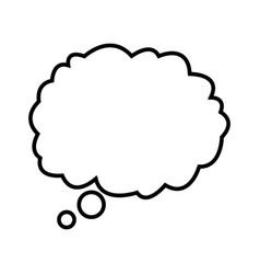 cloud dream think talking design outline vector image vector image