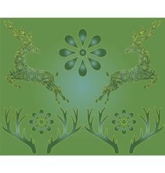 deer green vector image vector image