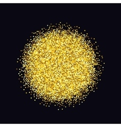 Gold sparkles on black background glitter vector image