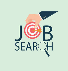job search design vector image vector image