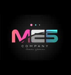 mes m e s three letter logo icon design vector image
