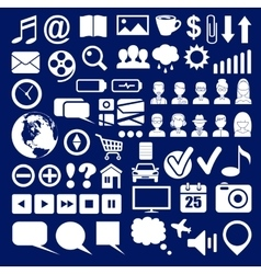 Set of icons of a social network vector image