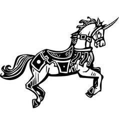 Unicorn in Livery vector image vector image