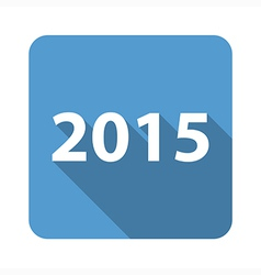 2015 flat icon vector image