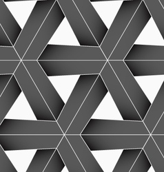 3D colored gray triangular grid vector image