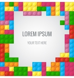 Abstract background with plastic blocks vector