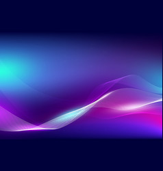 Abstract fluid color and line wave with light vector