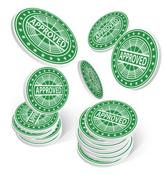 Approved chips success concept 3d vector